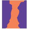 Logo BMVG bestaat uit 1 oranje en 2 blauwe pinguins en een oranje golfvlag